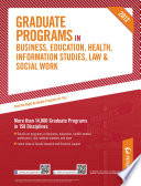 Peterson s Graduate Programs in Business  Education  Health  Information Studies  Law   Social Work 2012