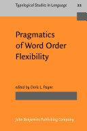 download ebook pragmatics of word order flexibility pdf epub