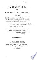 illustration 13-La galéide, ou, Le chat de la nature, poëme, suive de notes, d'un jugement sur le Mantouan [Baptista Mantuanus] ; avec la traductionde plusieurs morceaux des églogues de ce poëte, etc