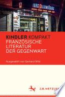 Kindler Kompakt  Franz  sische Literatur der Gegenwart