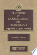 CRC Handbook of Laser Science and Technology Supplement 2