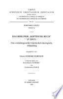 """Das Berliner """"Koptische Buch"""" (P 20915)"""