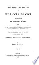 The Letters and the Life of Francis Bacon