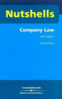 Company Law in a Nutshell
