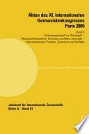 Akten Des XI. Internationalen Germanistenkongresses Paris 2005 Germanistik Im Konflikt Der Kulturen