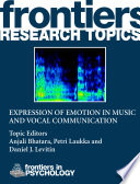 Expression of emotion in music and vocal communication