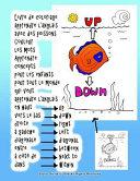 Livre de Coloriage Apprendre l anglais Avec des Poissons Couleur les Mots Apprendre Concepts Pour les Enfants Pour Tout le Monde Qui Veut Apprendre l anglais en Haut Vers le Bas Droite    Gauche Diagonale Entre    C  t   de Dans