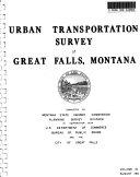 Urban Transportation Survey of Great Falls  Montana
