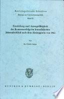 Ermittlung und Aussagefähigkeit des Konzernerfolgs im konsolidierten Jahresabschluss nach dem Aktiengesetz von 1965