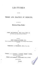 Lectures on the theory and practice of medicine, by J.C. Cooke and T.G. Thompson