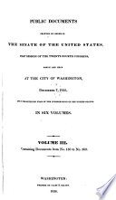 public documents printed by the order of the senate of the united states