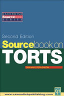 Sourcebook on Tort Law 2/e