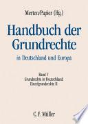 Merten/Papier, HGR V: Deutschland Einzelgrundrechte II