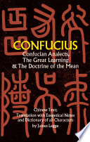 Confucian Analects The Great Learning The Doctrine Of The Mean