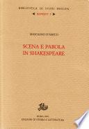 Scena e parola in Shakespeare