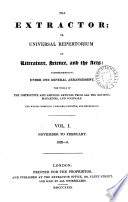 The Extractor  or Universal repertorium of literature  science  and arts  Vol  1  2   vol  1  no  1 is of the 1nd ed  Continued as The Polar star