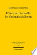 Kölner Rechtsanwälte im Nationalsozialismus