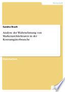 Analyse der Wahrnehmung von Markenarchitekturen in der Konsumgüterbranche