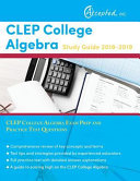 CLEP College Algebra Study Guide 2018 2019