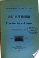 Summary of the Proceedings of the XIth International Congress of Navigation Book PDF