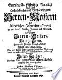 Genealogische historische Nachricht von den Herren-Meistern des ... Johanniter-Ordens