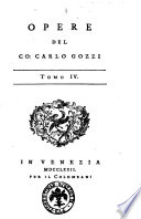 Opere del co  Carlo Gozzi tomo 1    tomo 8