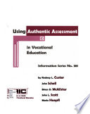 Using Authentic Assessment In Vocational Education