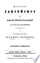 Kritische Jahrbücher für deutsche Rechtswissenschaft