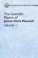 The Scientific Papers Of James Clerk Maxwell Vol Ii