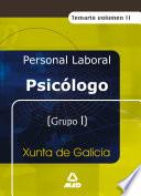 Psicologo de la Xunta de Galicia  Temario Volumen Ii Ebook