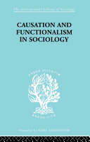 Causation and Functionalism in Sociology