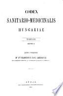 Codex sanitario-medicinalis Hungariae