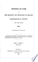 The Journal of the Kilkenny and South East of Ireland Archaeological Society Book PDF