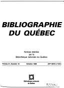 Bibliographie du Québec