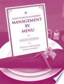 Study Guide to Accompany Management by Menu  4e