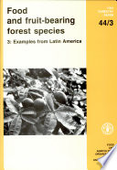 Food and Fruit bearing Forest Species