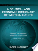 Ebook A Political and Economic Dictionary of Western Europe Epub Claire Annesley Apps Read Mobile