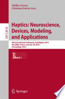 Haptics Neuroscience Devices Modeling And Applications