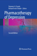 Pharmacotherapy of Depression Book