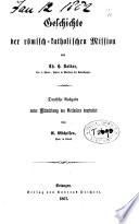 Geschichte der römisch-katholischen Mission