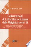 Conversazioni di letteratura calabrese dalle origini ai nostri dì
