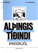 Alþingistíðindi