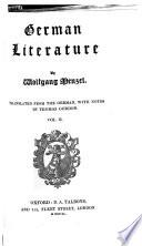 Die deutsche Literatur  German Literature      Translated from the German with notes by T  Gordon