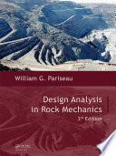 Design Analysis in Rock Mechanics  Third Edition
