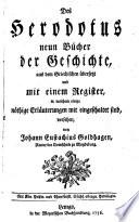 """""""Des"""" Herodotus neun Bücher der Geschichte"""