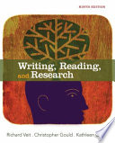 Writing  Reading  and Research