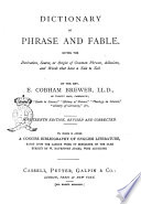 Dictionary of Phrase and Fable Book PDF