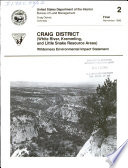 Craig District  White River  Kremmling  and Little Snake resource areas