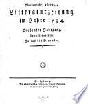 Oberdeutsche, allgemeine Litteraturzeitung