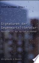 Signaturen der Gegenwartsliteratur